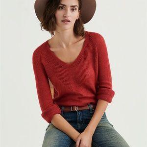 Lucky Brand V Neck Rayne Pullover NWT
